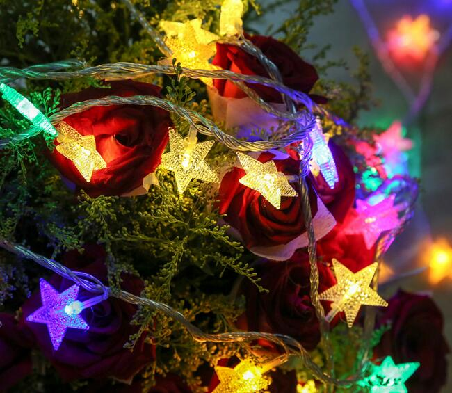 Us 11 0 10m 100led Lights Christmas Tree Snow Star Bulbs Led String Fairy Light Xmas Party Wedding Garden Garland Christmas Decorations In Party Diy