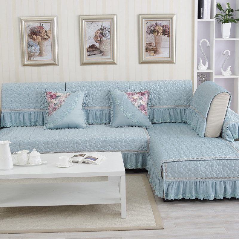 Sectional Cover on Sofa Polyester Cotton Fabric Sofa