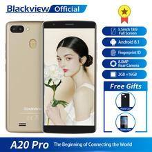 Blackview A20プロスマートフォン2ギガバイト + 16ギガバイトMT6739WALクアッドコアアンドロイド8.1 5.5インチ18:9フルスクリーン指紋4グラム携帯電話
