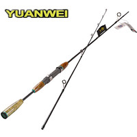 Yuanwei 1.8 m 1.98 m 2.1 m 스피닝 낚싯대 나무 손잡이 후지 가이드 링 휠 시트 vara de pesca 낚시 태클 잉어로드