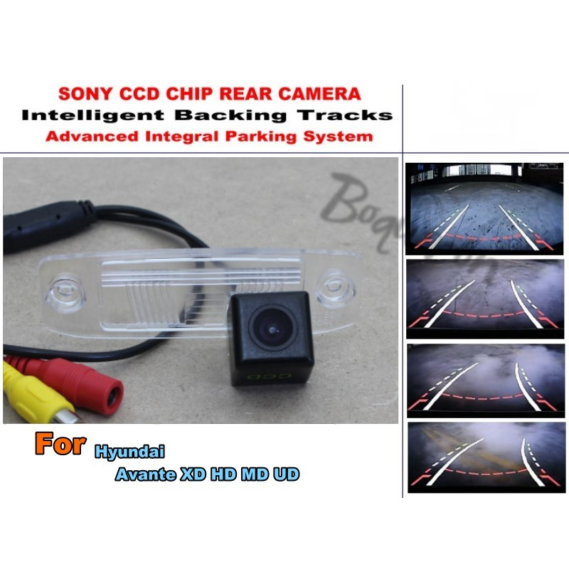 For Hyundai Avante XD HD MD UD Smart Tracks Chip Camera / HD CCD Intelligent Dynamic Parking Car Rear View Camera for renault duster 2010 2014 smart tracks chip camera hd ccd intelligent dynamic parking car rear view camera