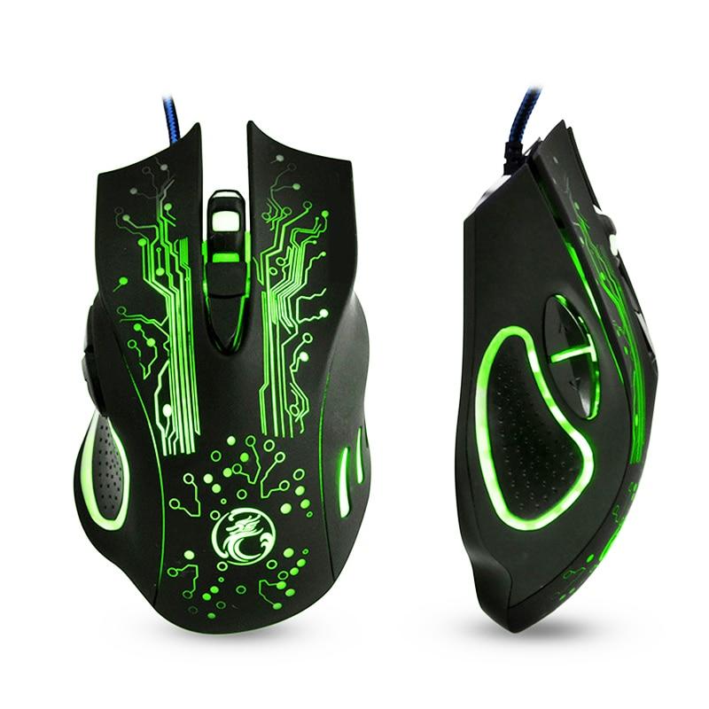 EASYIDEA Wired Gaming Mouse 5000 dpi USB Professionale Mouse Del Mouse Variabile HA CONDOTTO LA Luce 6 Bottoni Del Computer Mouse Ottico Del Mouse Per Gamer