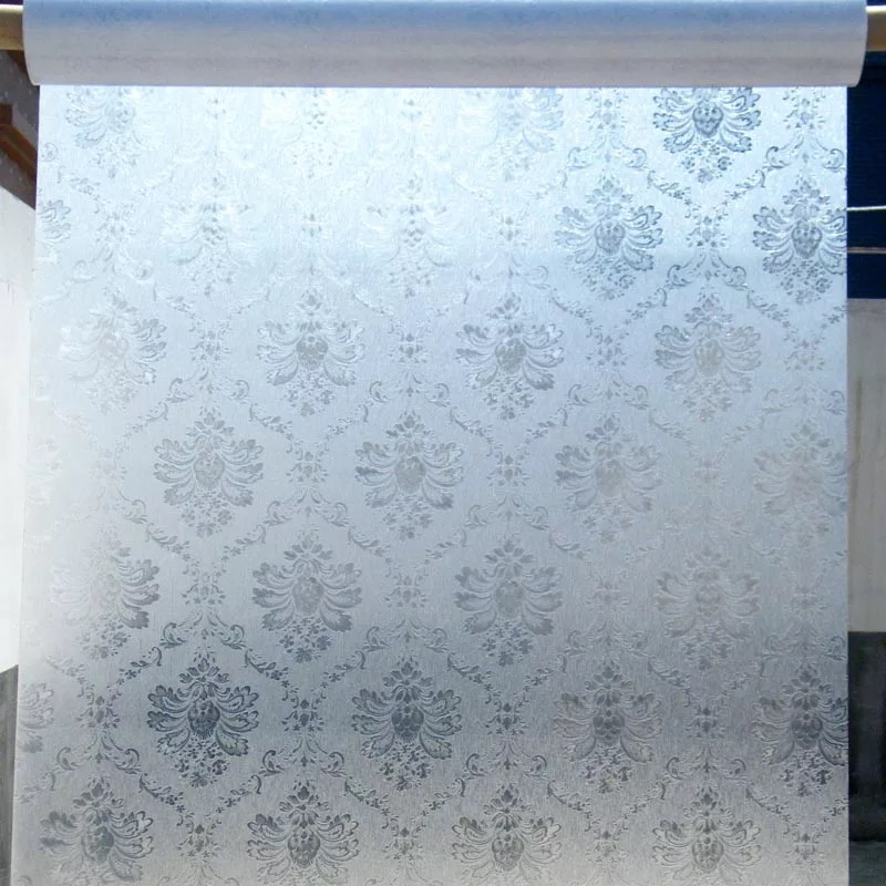 45 60 200cm Static Glue free Window Glass Film 3D Damascus Frosted Opaque Window Foil Sticker Customized kitchen Home Decoration in Decorative Films from Home Garden