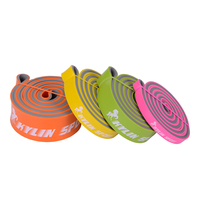 Set of 4 Resistance Bands Exercise Fitness Tube Rubber Yoga Pilates Workout Fitness Sport Equipment NEW