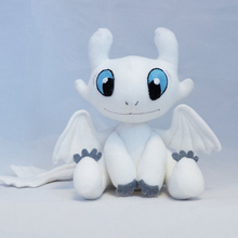 How to Train Your Dragon 3 Plush Toy Light Fury Soft White Dragon Stuffed Doll Christmas Gift 25cm(China)