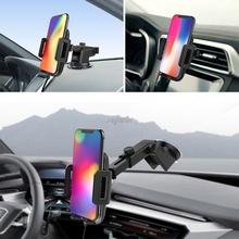 Qi Wireless 5V/9V Car Fast Charger Phone Mount Holder For iPhone X Samsung S8 S7 Z07 Drop ship
