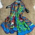 Encantador de Impressão Cachecol De Lã De Seda das Mulheres Xaile Wraps Cabo Para O Outono Inverno Moda Acessório Quadrado Grande Tamanho 140 cm