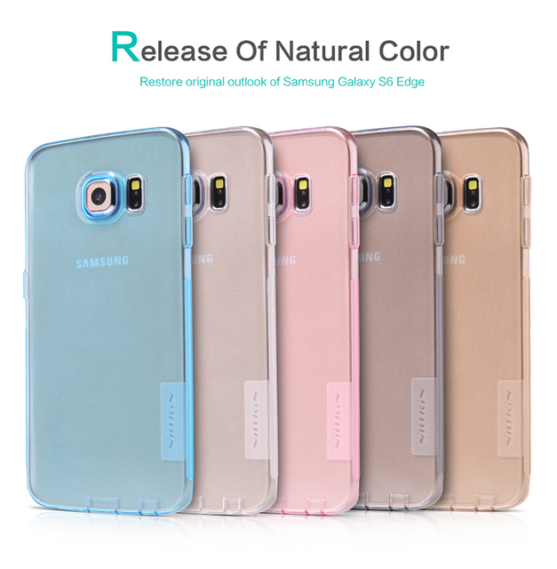 online retailer 6f934 71190 US $7.77 |Original NILLKIN Nature Ultra Thin Transparent soft Back Cover  Case For Samsung Galaxy S6 Edge Case+For S6 Edge phone case-in Fitted Cases  ...