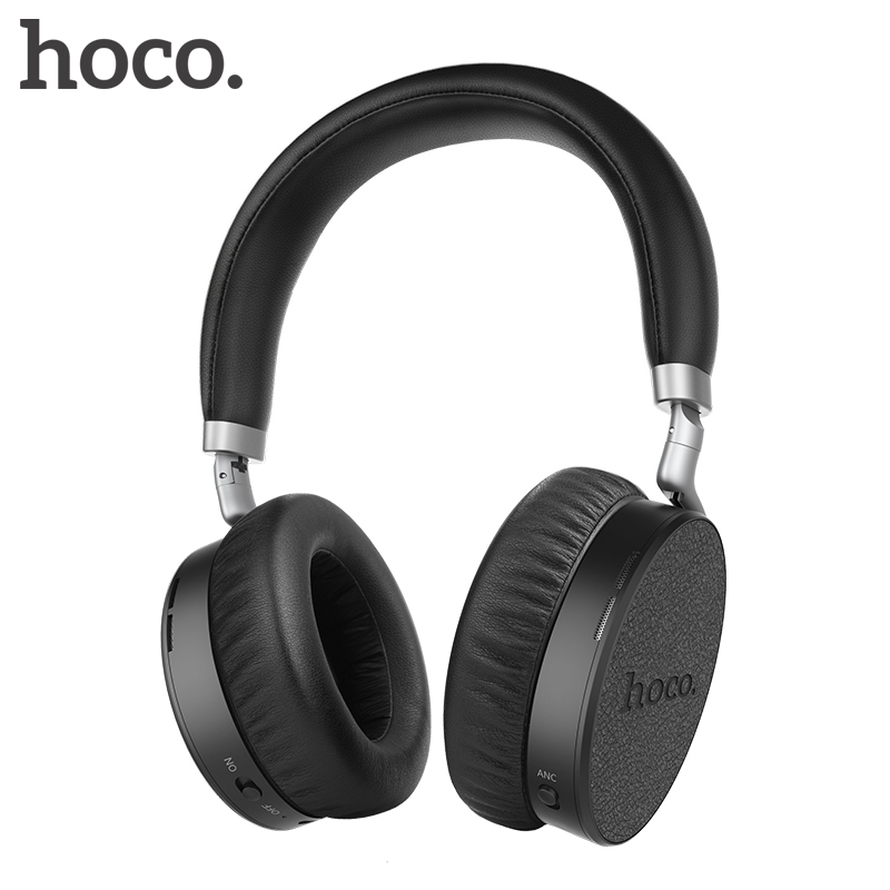 HOCO Active Noise Cancelling Wireless Bluetooth Headphones Portable Headset With Microphone for Mobile Phones and Music
