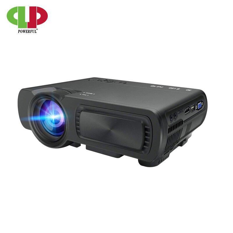 Puissant projecteur led T5 mini projecteur portable 1800 Lumen Résolution Android Smart Full HD Home Cinéma Film Beamer Proyector
