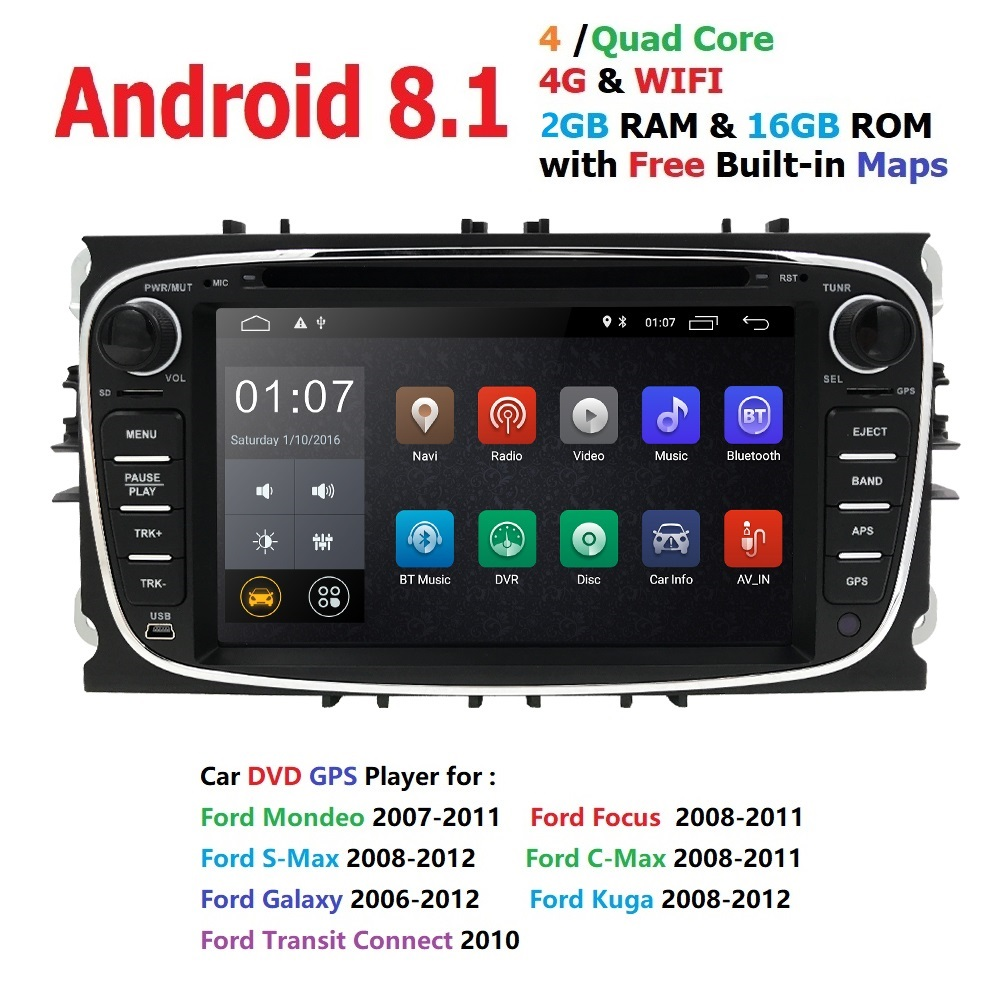 7 Android 8 1 Car Radio DVD For FORD Focus S MAX Mondeo C MAX Galaxy