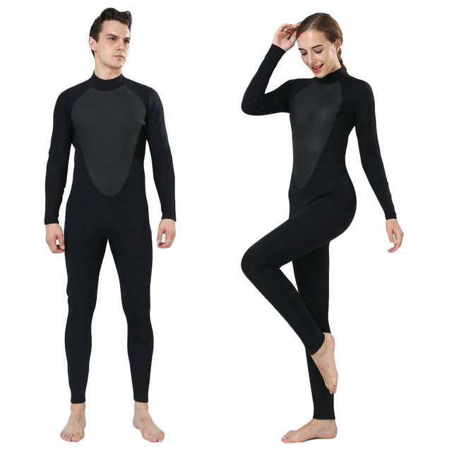 REALON Men and Women Free Diving Wetsuit 3mm Neoprene Full Suit Blind  Stitching Jumpsuit with Super-stretch Armpit Wet Suits 7e9149d22