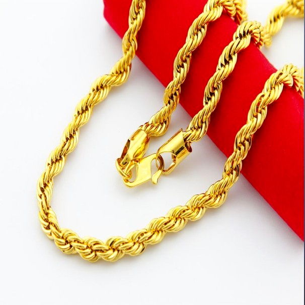 24k chain jp096 3mm 24k twisted singapore chain gold