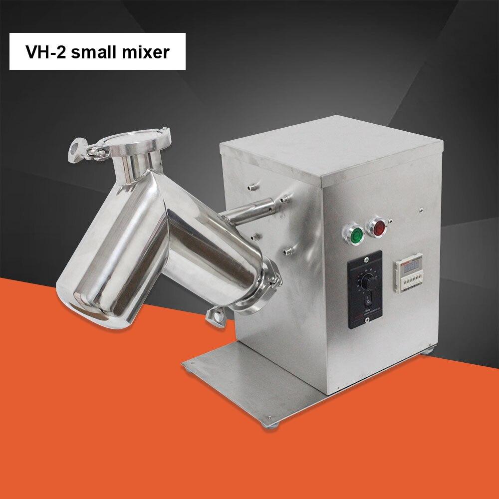 VH-2 2L piccolo V Tipo di Polvere Mixer Miscelazione Della Macchina cibo frullatore per la farmaceutica