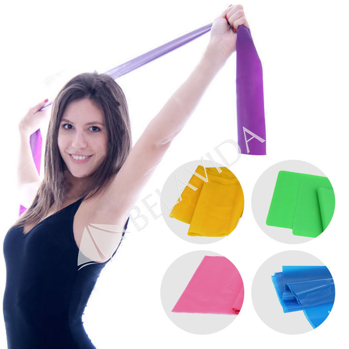 1.5m Yoga Pilates Stretch Resistance Band Exercise Fitness ...