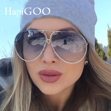 Fashion Classic Lady Oversized Pilot Sunglasses Women 2017 New Brand Design Sun Glasses For Men Big Glasses Frame Eyeglasses