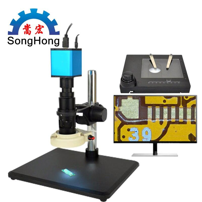 Автоматический Фокусировочный микроскоп Высокое Разрешение HDMI высокоскоростное электронное видео измерение для 14 миллионов промышленных электронных