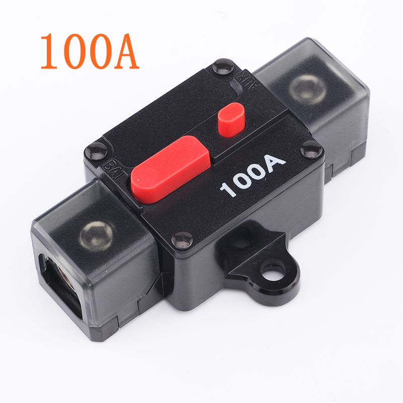 US $15 68 7% OFF|100A 140A 180A 200A 12V Car Truck Audio Amplifier Circuit  Breaker Fuse Holder AGU Style Stereo Amplifier Refit 4GA to 4GA Cable-in