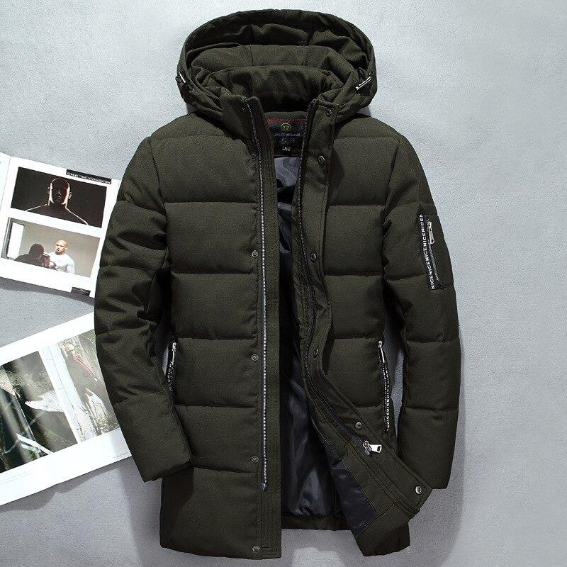 Зимняя куртка Для мужчин теплое пальто Модные Повседневные куртки средней длины утолщение Пальто для будущих мам Для мужчин для зимняя бре...