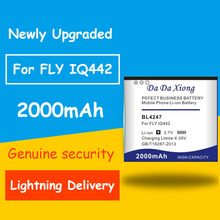 Full Protection And Safety 2000mAh BL4247 Mobile Phone Battery For fly iq442 Quad Miracle 1 BL 4247 Battery аккумулятор для телефона ibatt bl5203 для fly iq442 quad miracle 2 iq442 quad miracle 2