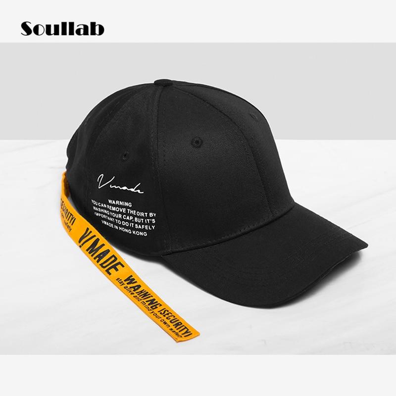 Soullab kualitas warna kontras hitam merah pria wanita aksesoris caps  snapback baseball topi hip hop streetwear 4373c9cdda