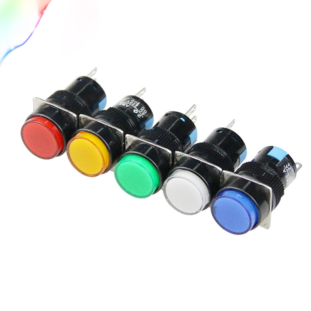 A pack of five 5 Red Push Button Switch Momentary