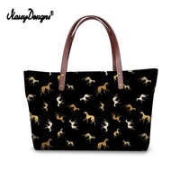 Noisydesigns Women Casual Shoulder Handbag Tote Greyhound Dog Print Animal Pattern Zipper & Hasp Crossbody Famous Brands Luxury
