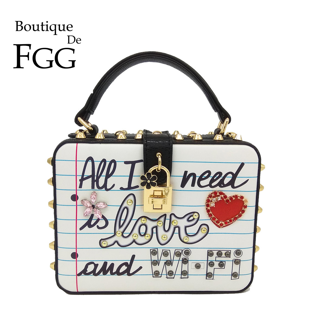 Boutique de Fgg Amor e Wi-fi Bolsa de Ombro Bolsa de Embreagem Tudo Preciso Moda Feminina Crossbody Bolsas Senhoras Top-alça Caixa Que eu é