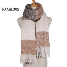 Fashion Scarf Loop yarns Mohair Striped Soft Top Quality Cashmere Winter Warm Shawl for women Free Shipping