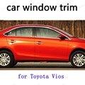 Отделка окна автомобиля внешние аксессуары декоративные полосы Для Toyota Vios из нержавеющей стали
