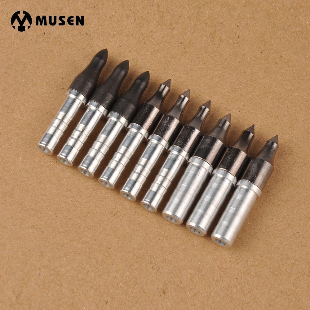 цена на 6.2mm/7.6mm Arrowhead Points Tips 100/125 Grain Arrow Head with 10/20pcs Aluminium Arrow Insert for Carbon Arrow Archery