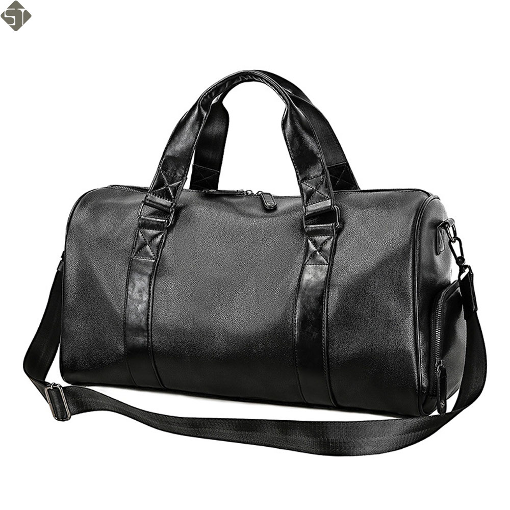 Brand Men Black handbag Travel Bag Waterproof Leather Large Capacity Travel Duffle Multifunction Tote Casual Crossbody Bags