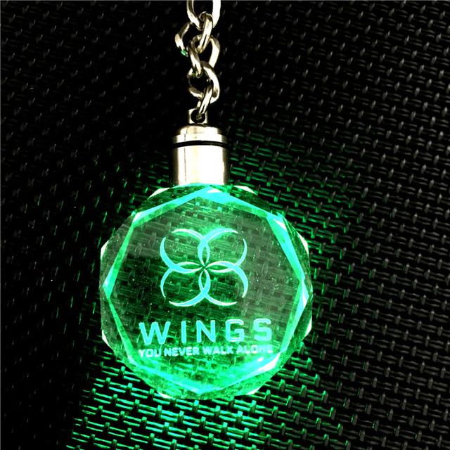 BTS Wings LED Keychain Lightup Bangtan Boys