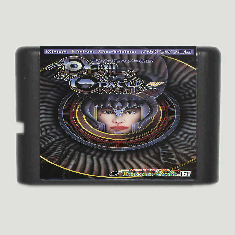Devil Crash Game Cartridge Newest 16 bit Game Card For Sega Mega Drive / Genesis System