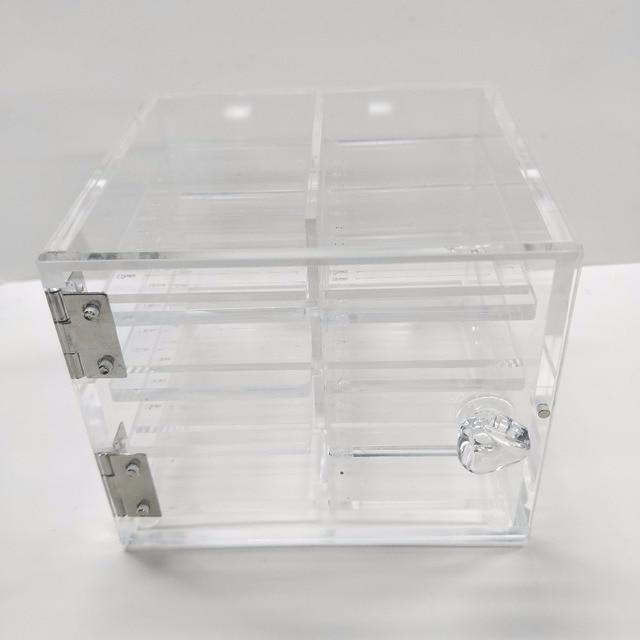 ad2f70317a4 Pro 8 pieces Acrylic Platform Lash Box Organizer Eyelash Glue Holder False  Eyelash Packaging Box Storage Case Extension Tools