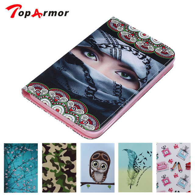 TopArmor For Samsung Galaxy Tab 4 7 0 SM T230NU T231 SM T235 T230 Android  PC PU Leather Flip Folio Stand Case Cover -in Tablets & e-Books Case from