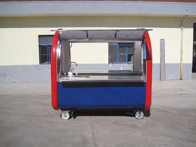עדכני רחוב מזון עגלת קרח קרם Venidng עגלת נייד מזון קיוסק למכירה מזון DW-34