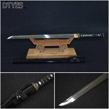 Echt Katana Schwerter Katana Sword Carbon Handmade Espada Ninja Ninja Sword Black Espada Katana Afiada Japanese Katanas Calidad