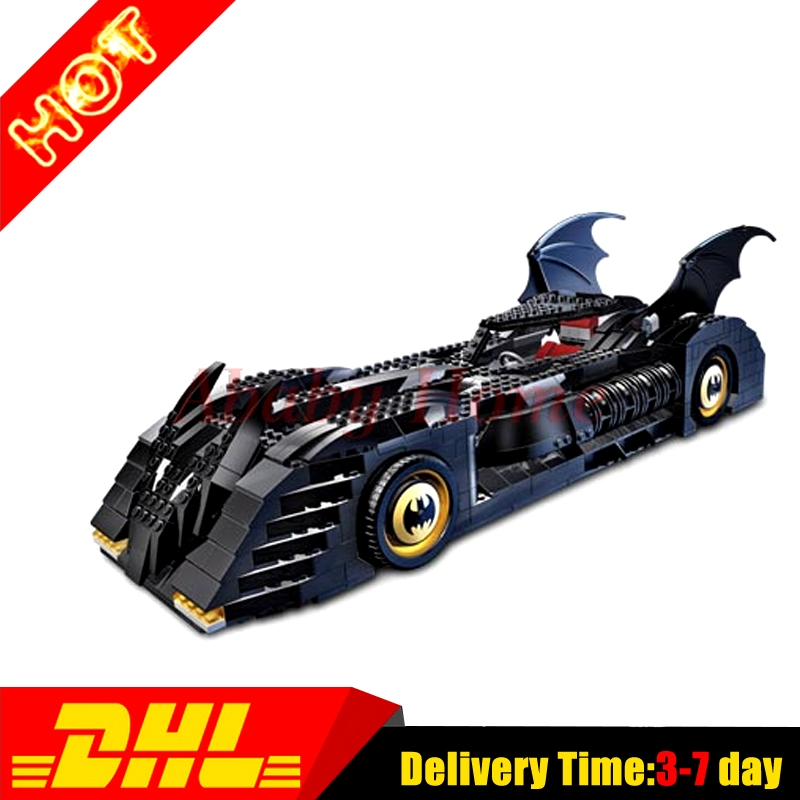 Decool 7116 Superhero Batman Batmobile Model building kits Clone city 3D blocks toys hobbies for children gift 7784