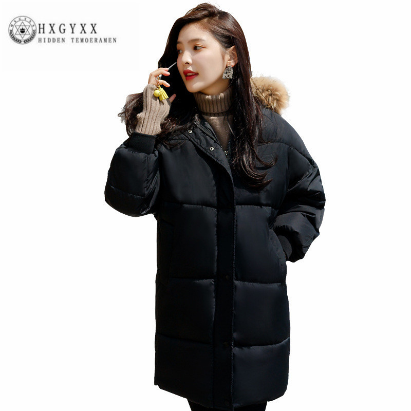 selling New Loose Women Cotton Coat Big fur collar pure color Winter Wadded jacket Fashion Leisure Warm Female Outerwear ZX0166 women winter coat leisure big yards hooded fur collar jacket thick warm cotton parkas new style female students overcoat ok238
