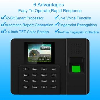 цена на Biometric Fingerprint Time Attendance System Clock Recorder Employee Fingerprint TCPIP USB Reader Attendance Machine Spanish