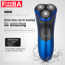 Waterproof Beard Shaver Rechargeable Men's Electric Shaver Razor 3D Floating Heads Wireless Use Men's Shaving Machine Razors цена