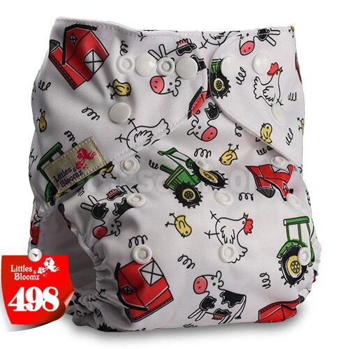 Littles& Bloomz детские моющиеся многоразовые подгузники из настоящей ткани с карманом для подгузников, чехлы для подгузников, костюмы для новорожденных и горшков, один размер, вставки для подгузников - Цвет: 498
