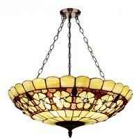 Światła 50 CM europejski ogród sypialnia salon wiszące światła lampa drogowa badania lampa retro oświetlenie DF128 w Wiszące lampki od Lampy i oświetlenie na