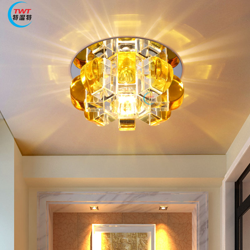 2016 modern crystal lamp LED corridor lamp ceiling lamp light entrance hall lighting lamps pumpkin bright colorful led lamp installed inside the entrance hall light corridor lamp ceiling lamp lamp stunning