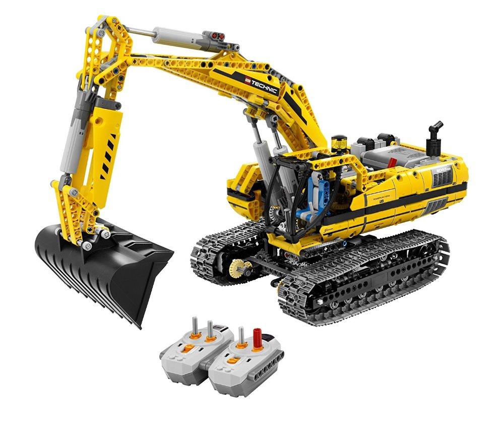 Lepin20007 technic series 1123pcs excavator Model Building blocks Bricks Compatible Toy Christmas Gift 8043 Educational Car lepin 20005 2793pcs technic series model building block bricks compatible with boys toy gift compatible legoed 42023