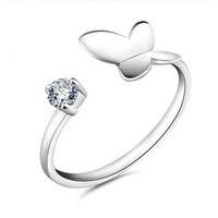 925 Sterling Zilveren Vlinder Ring Europa en Zuid-korea Stijl van De Ring Mode Zilveren Sieraden Supply Sieraden Verpakking
