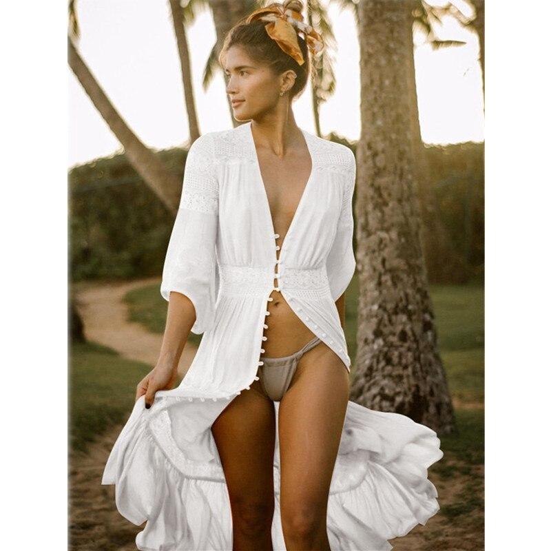 Sexy Ladies Women Bikini Cover Up Beach Dress Swimwear Chiffon Beachwear Bathing Suit Summer Swim Beach Coverups Cardigan Sarong