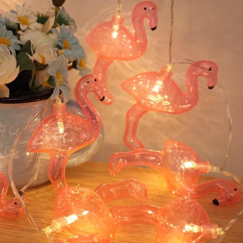 Flamingo Party Dekoration 10 Lichter LED Flamingo Girlande Licht ...