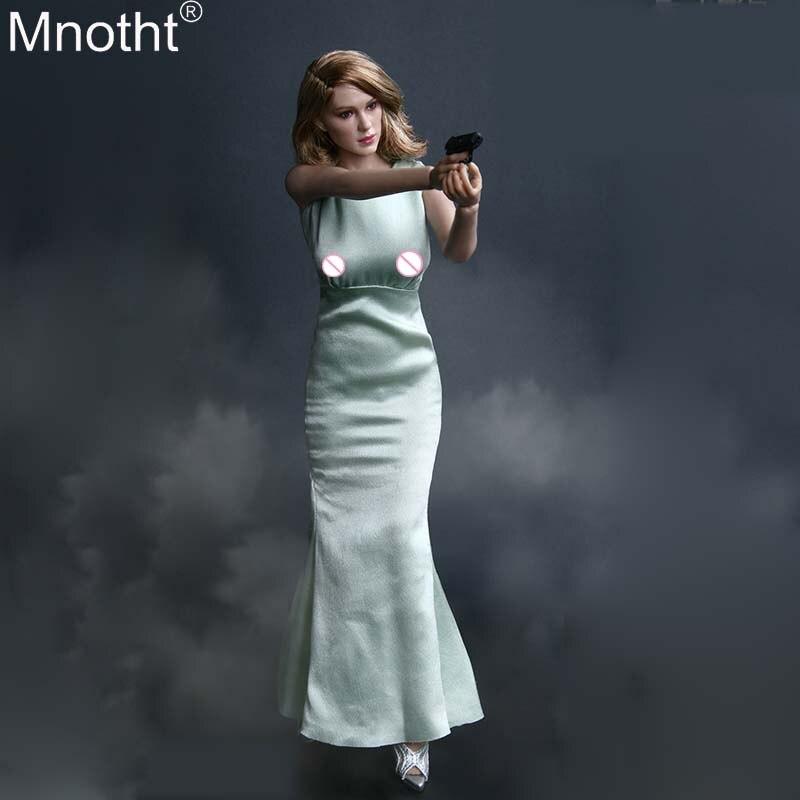 Mnotht 1 6 Black Box Toys SPECTRE GIRL BB9006 Suit Head Sculpt SILK DRESS White Skirt